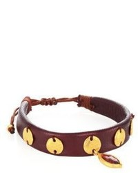 Chan Luu Garnet Leather Bracelet