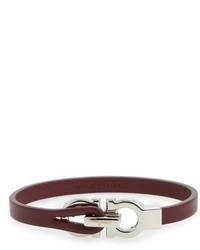 Salvatore Ferragamo Double Gancini Leather Bracelet