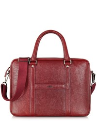 Dark red leather restyling briefcase medium 142369