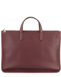 Toledo leather briefcase oxblood medium 142367