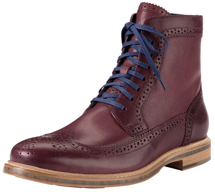 Cole Haan Cooper Square Wing Tip Boot Red 348 Neiman Marcus