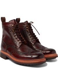 Grenson Fred Burnished Leather Brogue Boots