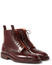 George Cleverley Toby Cap Toe Horween Shell Cordovan Leather Brogue Boots