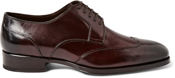 1f80f146fd75 ... Tom Ford Austin Polished Leather Wingtip Derby Shoes ...