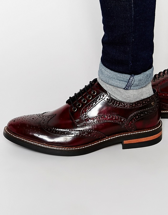 85f4b1de21c03 Base London Woburn Hi Shine Leather Brogues, $114 | Asos | Lookastic.com