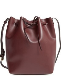 Blackwood faux leather bucket bag red medium 784816