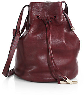 191f5fbc503f ... Leather Bucket Bags Halston Heritage Drawstring Bucket Bag ...