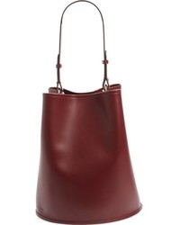 Large calfskin leather bucket bag red medium 816913