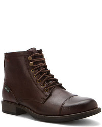 Burgundy Leather Casual Boots