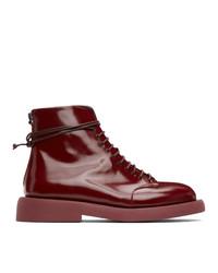Marsèll Burgundy Gommello Boots