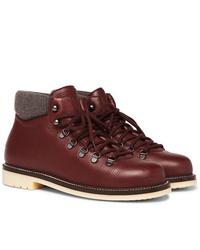 Loro Piana Laax Full Grain Leather Boots