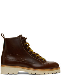 Ps By Paul Smith Leather Buhl Lace Up Boots