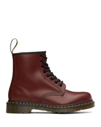 Dr. Martens Red 1460 Smooth Lace Up Boots