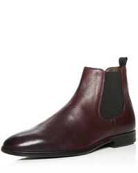 a. testoni Atestoni Beatles Leather Chelsea Boots