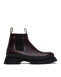 Jil Sander Burgundy Antick Chelsea Boots