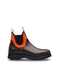 Prada Colour Block Ankle Boots