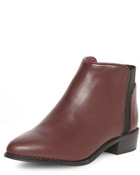 Dorothy Perkins Oxblood Pointed Chelsea Boot