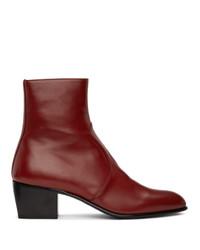 Saint Laurent Red Cole Boots