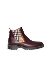 Burberry Vintage Leather Chelsea Boots