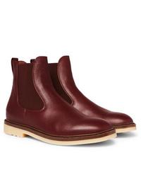 Loro Piana Winter Beatle Walk Full Grain Leather Chelsea Boots