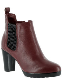 Bella Vita Zana Chelsea Bootie Dark Brown Leatherblack Gore Boots