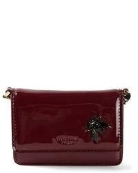 Burgundy Leather Clutch