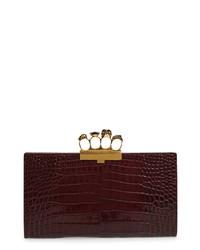 Alexander McQueen Leather Knuckle Clutch