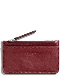 Shinola Leather Zip Pouch Burgundy