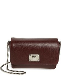 Jimmy Choo Ruby Grainy Leather Clutch Burgundy
