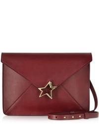 Corto Moltedo Tiffany Star Burgundy Leather Shoulder Bag