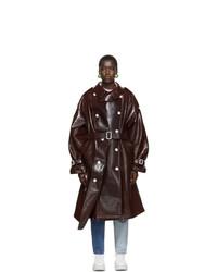 PushBUTTON Burgundy Sway Overcoat