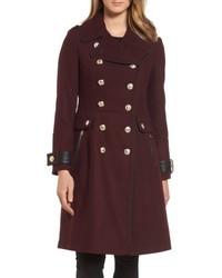 Wool blend military coat medium 5262458