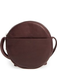 Burgundy Leather Crossbody Bag