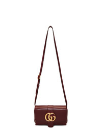 Gucci Burgundy Small Arli Shoulder Bag