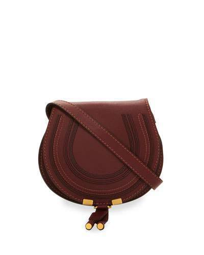 43ed2de9abc ... Burgundy Leather Crossbody Bags Chloé Chloe Marcie Small Leather  Crossbody Bag Bordeaux ...