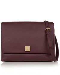Mulberry Freya Textured Leather Shoulder Bag Burgundy