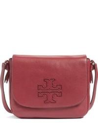 Tory Burch Harper Leather Crossbody Bag Burgundy