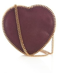 Stella McCartney Heart Falabella Faux Suede Cross Body Bag
