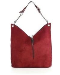 Jimmy Choo Large Raven Suede Chain Shoulder Bag