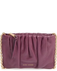 Marc Jacobs Ruched Leather Crossbody Bag Burgundy