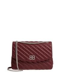 Balenciaga Matelasse Calfskin Leather Shoulder Bag