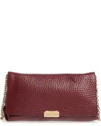 Burberry Medium Mildenhall Leather Shoulder Bag Red