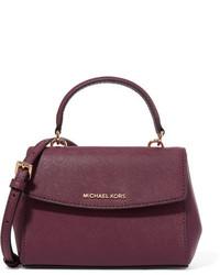 MICHAEL Michael Kors Michl Michl Kors Ava Mini Textured Leather Shoulder Bag Plum