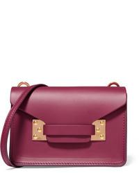 Sophie Hulme Milner Nano Leather Shoulder Bag Plum