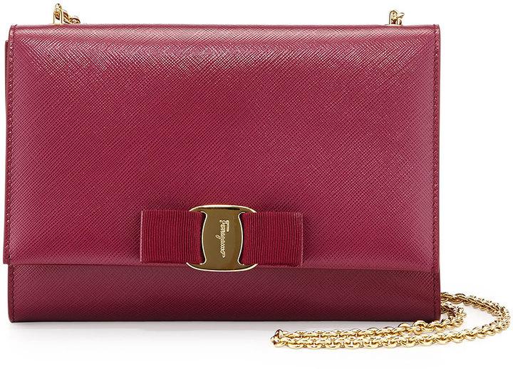 f6b4135acb ... Salvatore Ferragamo Miss Vara Bow Clip Crossbody Bag Vin ...