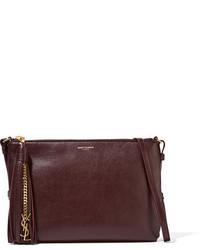 Saint Laurent Monogramme Teen Leather Shoulder Bag Burgundy