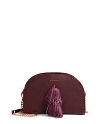 Ted Baker London Pom Leather Crossbody Bag