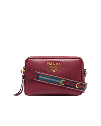 06b97791d74784 Women's Burgundy Leather Crossbody Bags by Prada | Women's Fashion ...