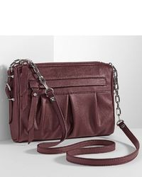 Vera Wang Simply Vera Adelaide Pleated Crossbody Bag