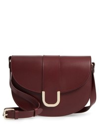 Soho calfskin leather saddle bag red medium 5254692